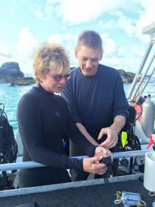 With my dive buddy Dr. Craig Mallak, Chief M.E. #BrowardCounty #Florida