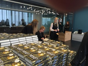 Getting ready for the #‎Scarpetta fans at my Good-Housekeeping event in London!